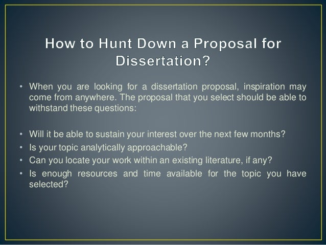 history dissertation proposals