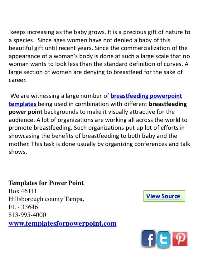 online download breast feeding powerpoint template