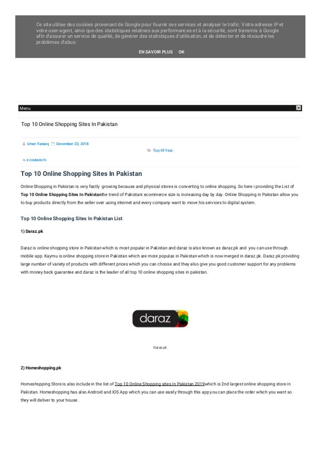 138aba3416e Top 10 Online Shopping Sites In Pakistan 2019