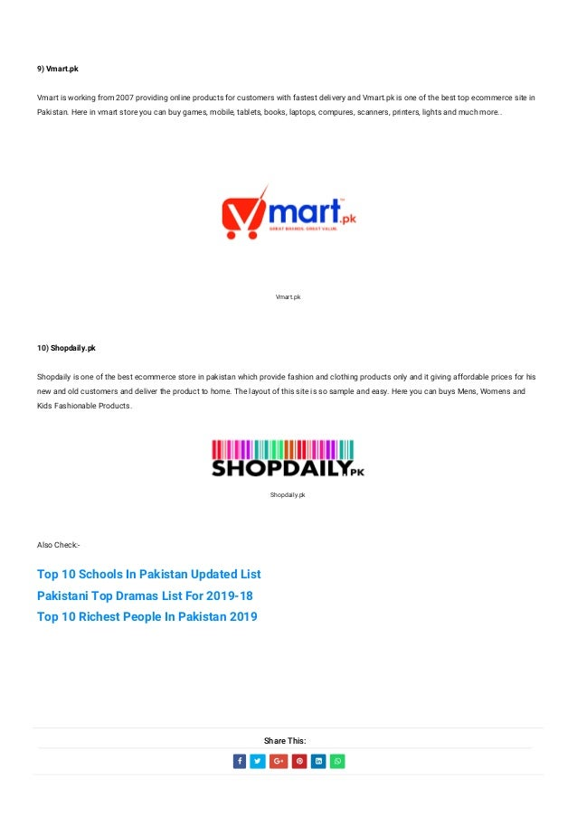 Top 10 Online Shopping Sites In Pakistan 2019