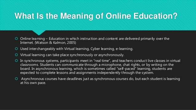 Online education