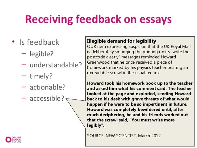 Online essay service marking of essay-type assignments