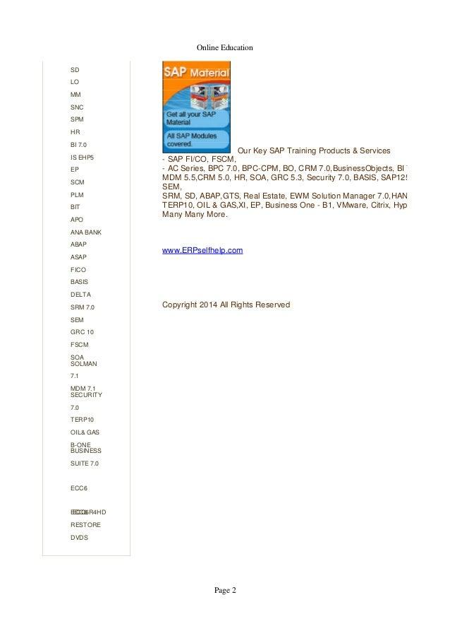 Sap Bo4 0 Certification Material