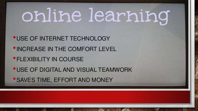online learning as opposed to educational setting learning
