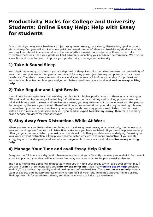 online essay writing help