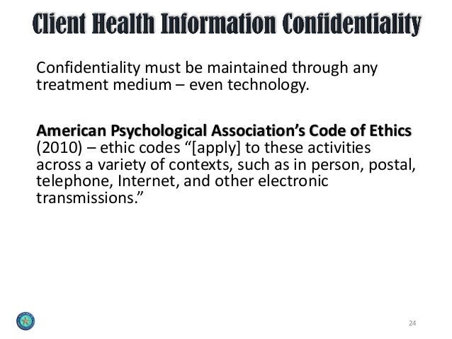 Online Ethical Considerations For Mental Health Clinicians