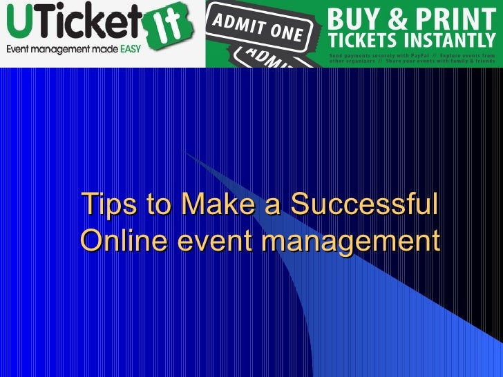 Tips to Make a Successful Online event management