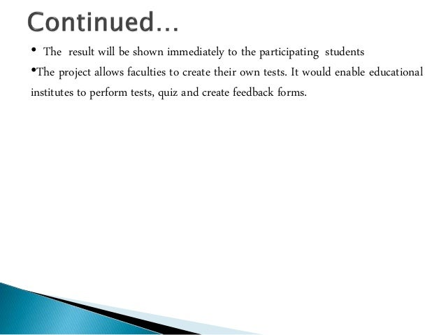 online exam system thesis A project report on online exams system submitted to: submitted by.