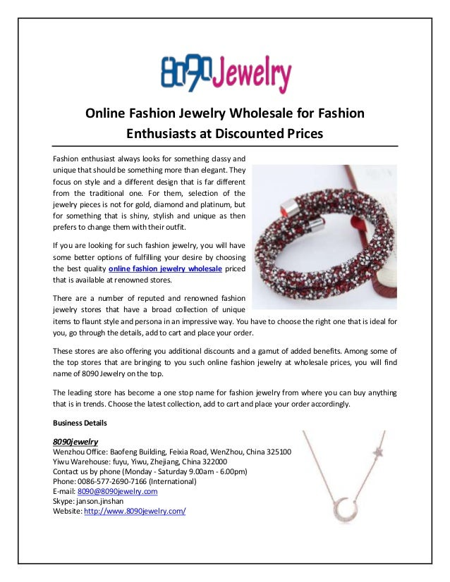 Online Fashion Jewelry Wholesale for Fashion Enthusiasts at