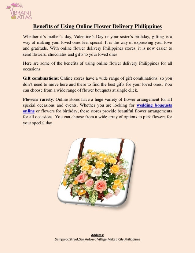 Benefits Of Using Online Flower Delivery Philippines