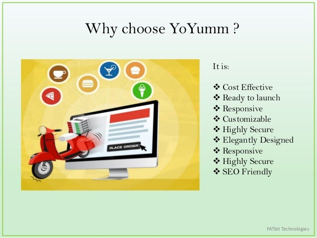 scope of online food ordering in Yoyumm is by far the most efficient online food ordering portal builder in  seo  friendly, restaurant reviews system, scope of customization,.