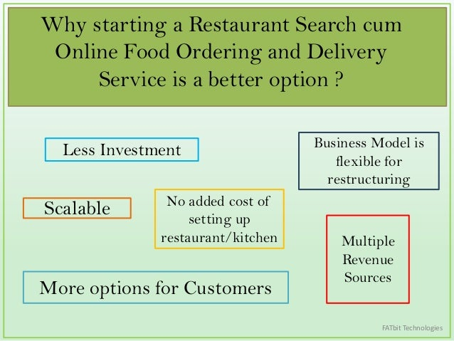 online food ordering business model Their cost base and business model is still built around in-store dining, even though more of their revenue is coming from online orders one local restaurant owner told me 80 per cent of meals they cook are now for home deliveries or pick-ups granted, this is a good problem for smaller restaurants those who successfully market via food-ordering.
