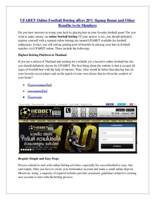 Betting on football online sports betting understanding