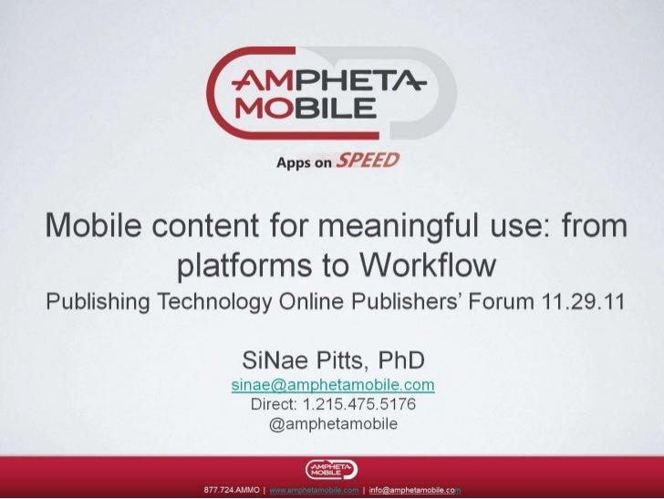 Publishing Technology Online Forum - Amphetamobile