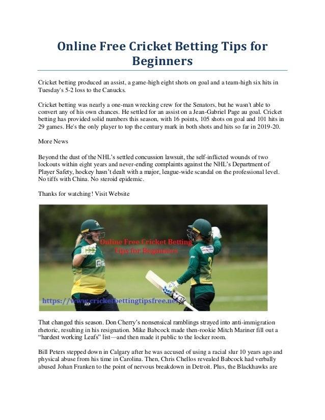 cricket betting tips website