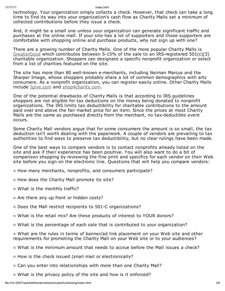 Article from 2001 about Online Fundraising Slide 3