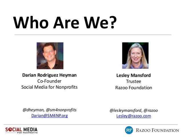 Online Fundraising with Social Media with Razoo and Social Media for Nonprofits Slide 2
