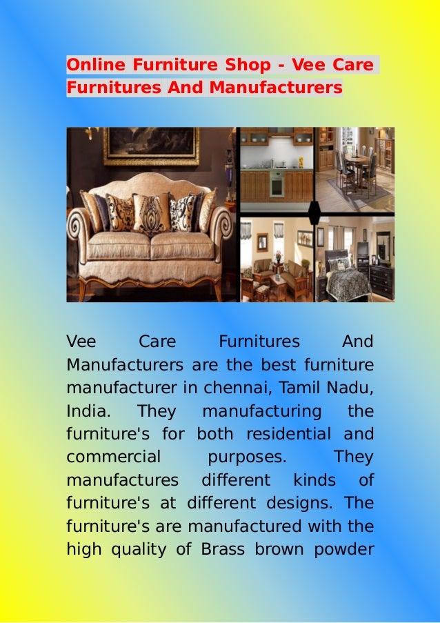Online Furniture Shop Vee Care Furnitures And Manufacturers