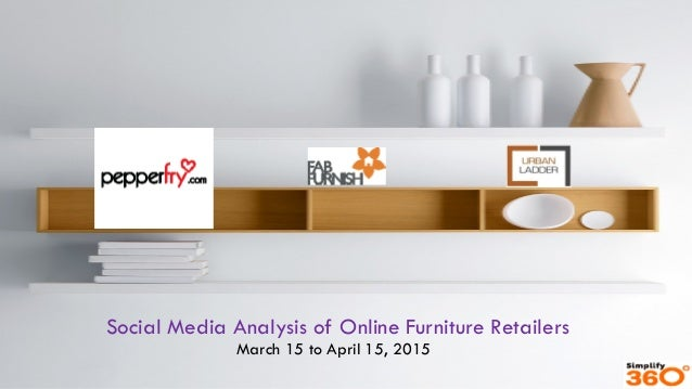 Social Media Analysis of Online Furniture Retailers March 15 to April 15, 2015