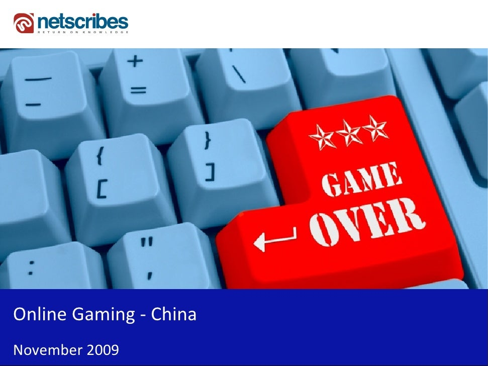 Online Gaming - China November 2009