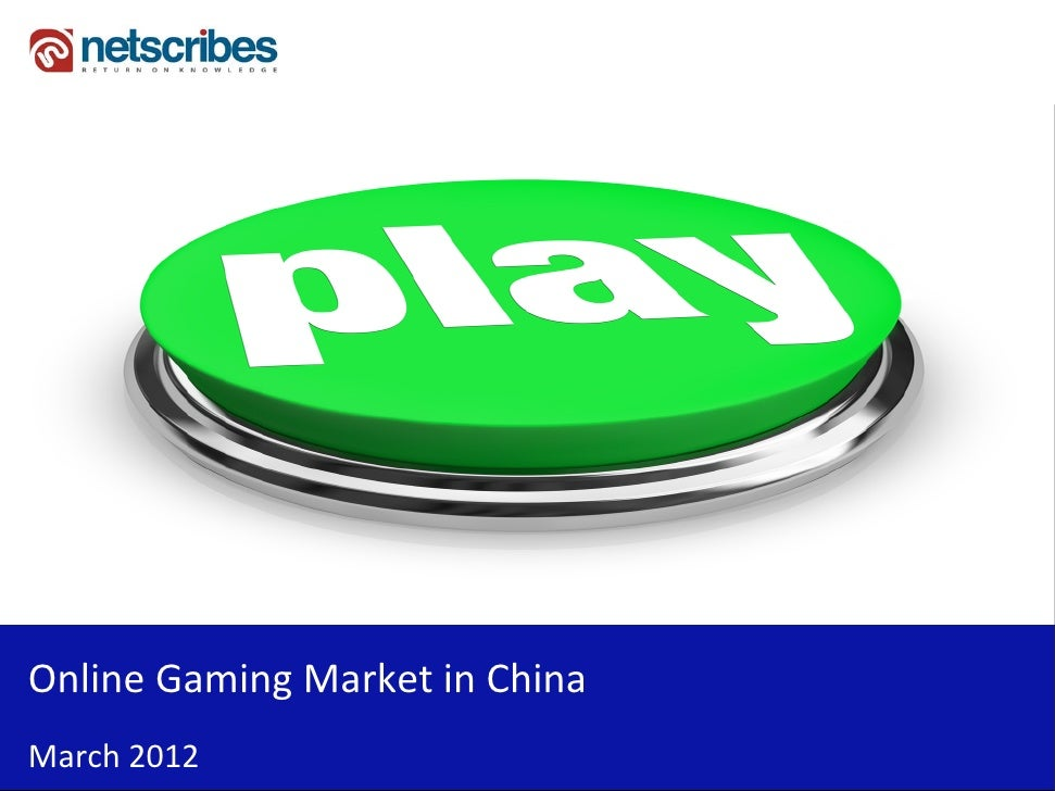 Insert Cover Image using Slide Master View                            Do not distortOnline Gaming Market in ChinaMarch 2012