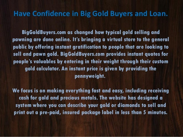 Online Gold Buyers - Sell Gold for Cash at our Online Pawn Shop