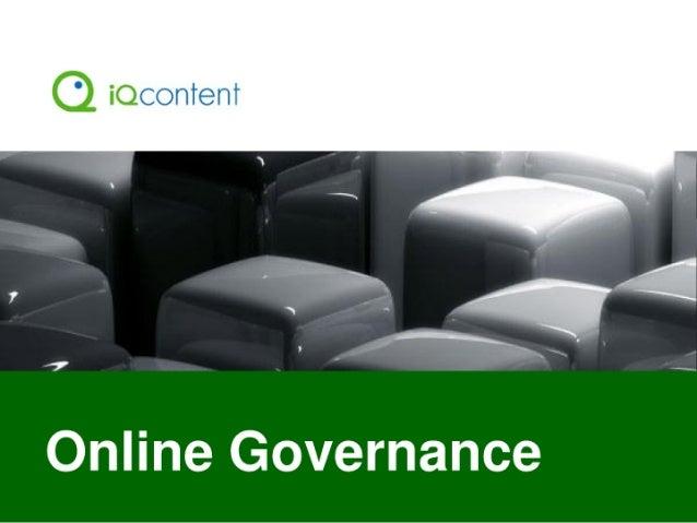 '7  Online Governance