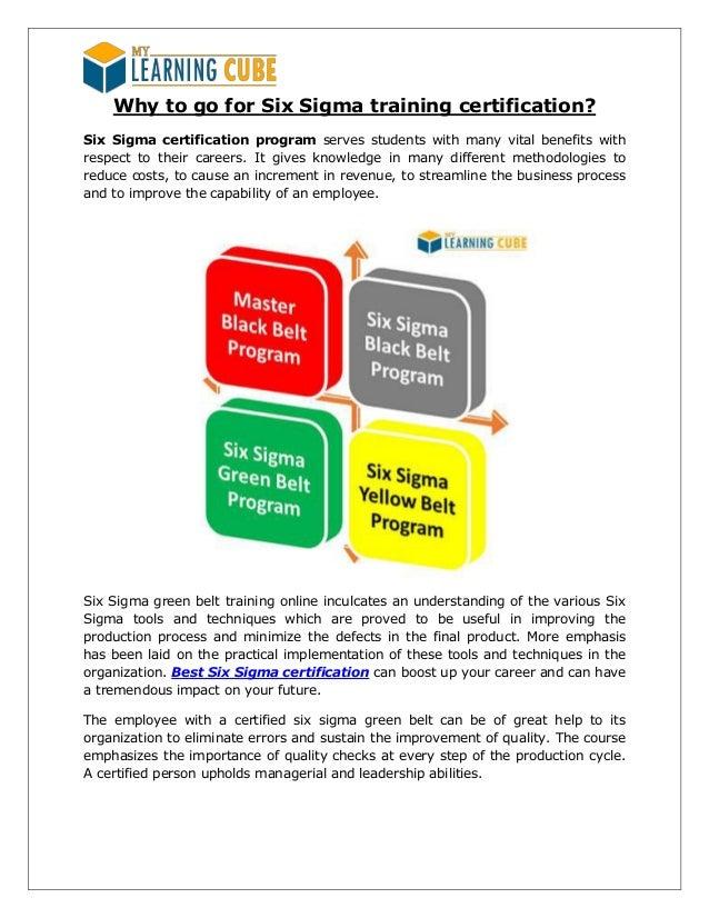 Online Green Belt Six Sigma Certification