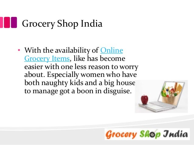 Grocery shop online