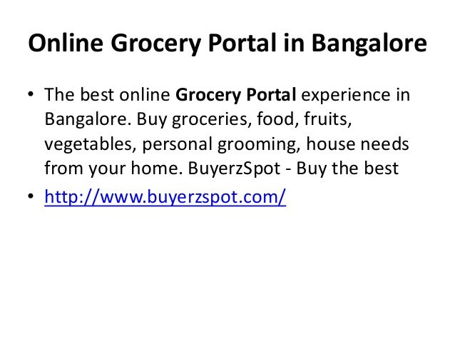 Online Grocery Protal in Bangalore