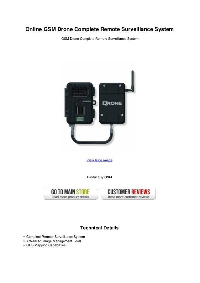 Online Gsm Drone Complete Remote Surveillance System