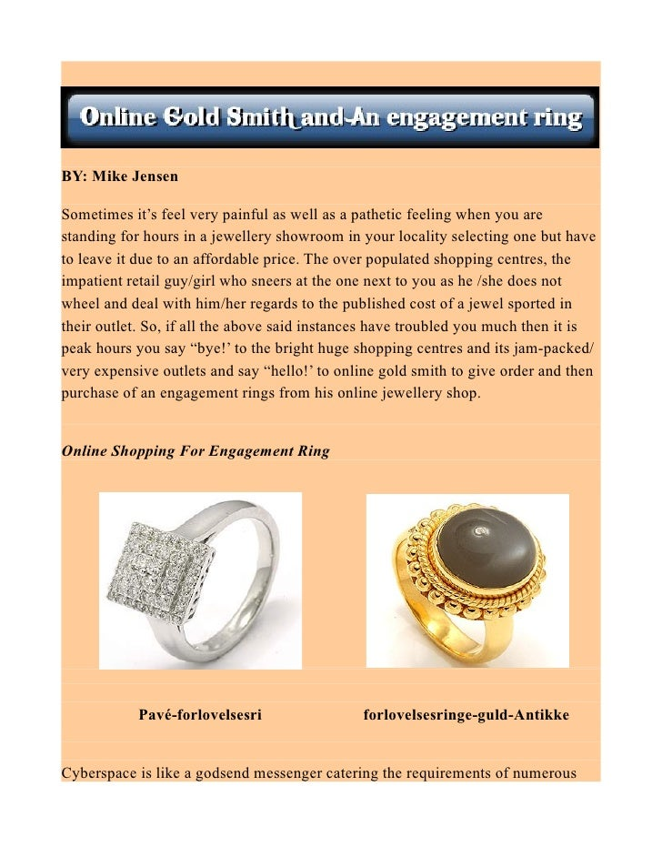 Online Gold Smith and An engagement ring