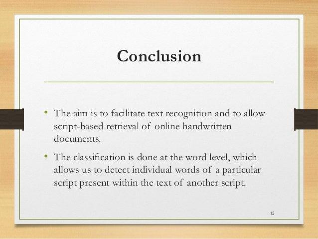 Online handwritten script recognition