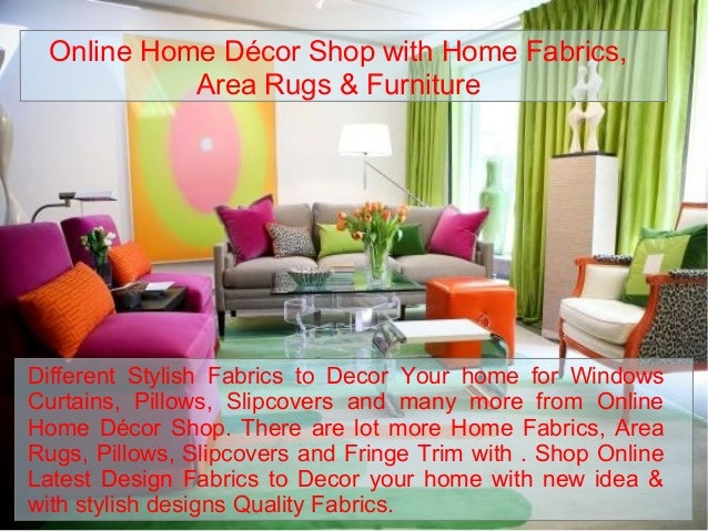 Online Home Décor Shop With Home Fabrics, Area Rugs U0026 Furniture Different  Stylish Fabrics To ...