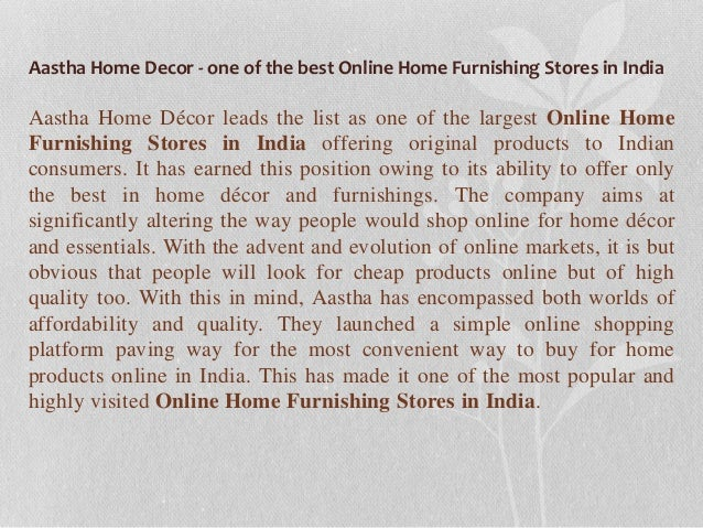 Online Home Furnishing Stores In India 2