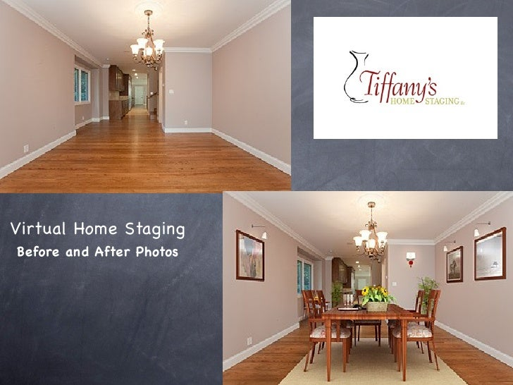 Online Home Staging Virtual Technology. Before And After Photos