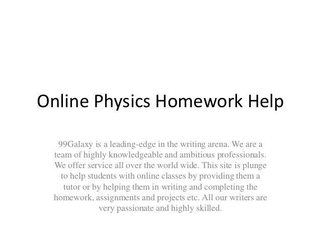 Physics tutoring online