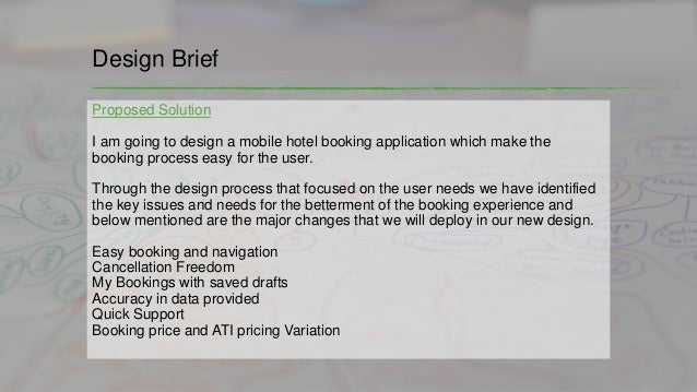Online hotel booking application design process for Booking design hotel