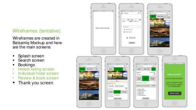 Online hotel booking application - Design Process