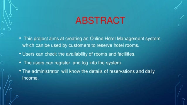 PPT FOR ONLINE HOTEL MANAGEMENT