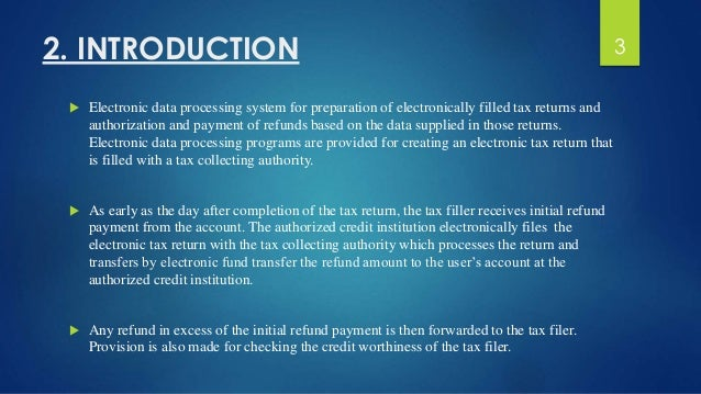 Online incometax return filing system - BEST SRS Report