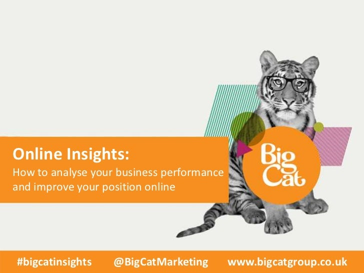 Online Insights:How to analyse your business performanceand improve your position online#bigcatinsights    @BigCatMarketin...