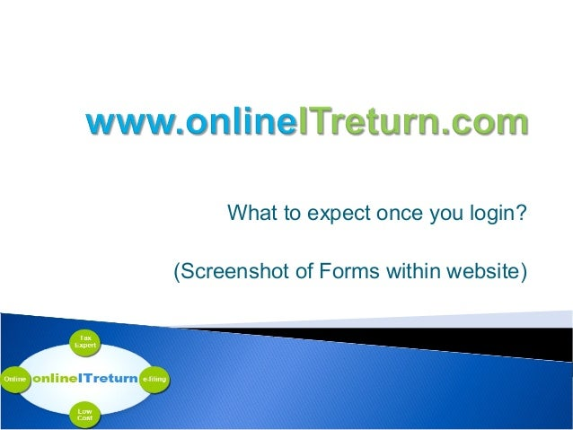 What to expect once you login? (Screenshot of Forms within website)