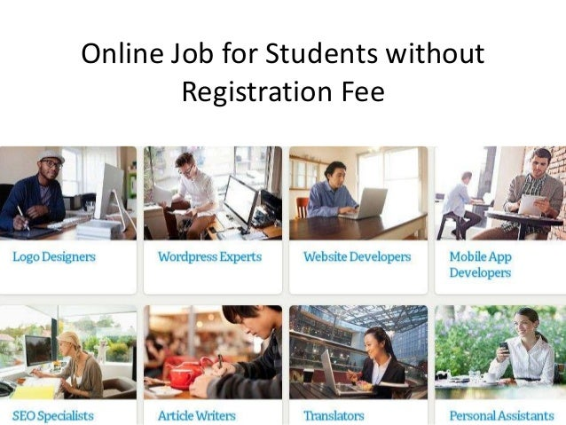 Online jobs for students with no fees
