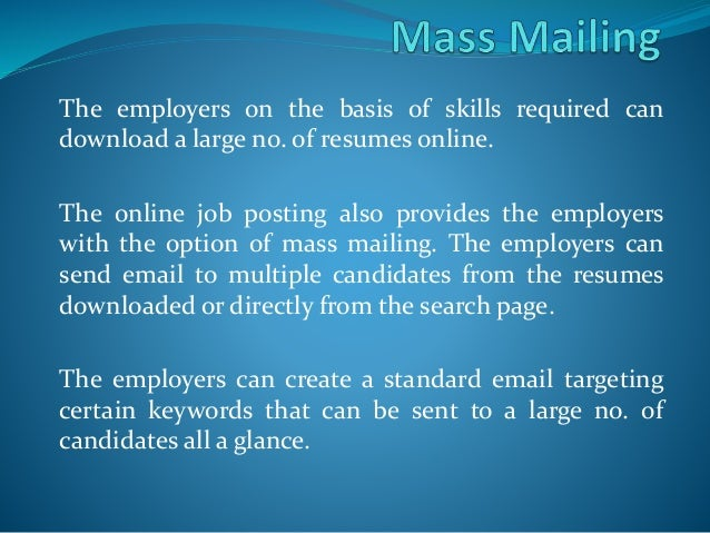 Benefits Of Online job posting