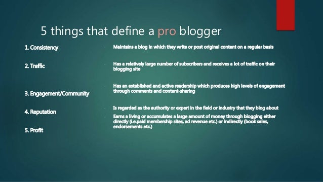 3 examples of professional bloggers