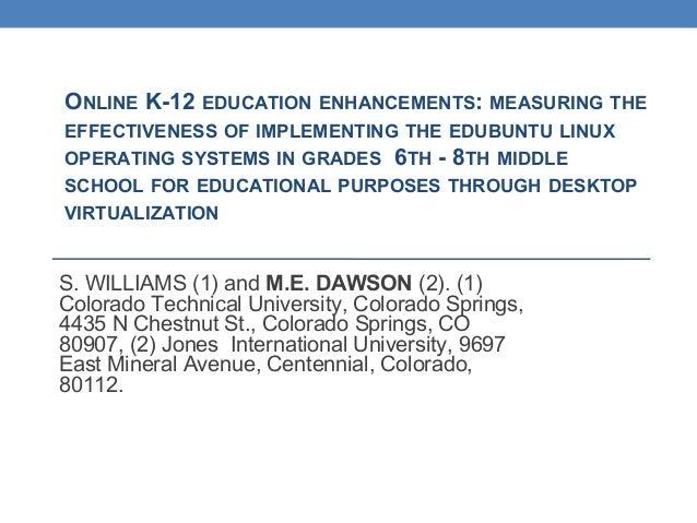effectiveness of online education pdf