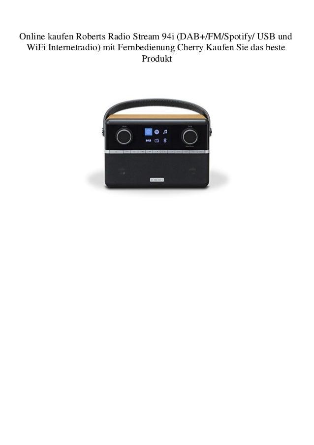 Online kaufen Roberts Radio Stream 94i (DAB+/FM/Spotify/ USB und WiFi Internetradio) mit Fernbedienung Cherry Kaufen Sie d...