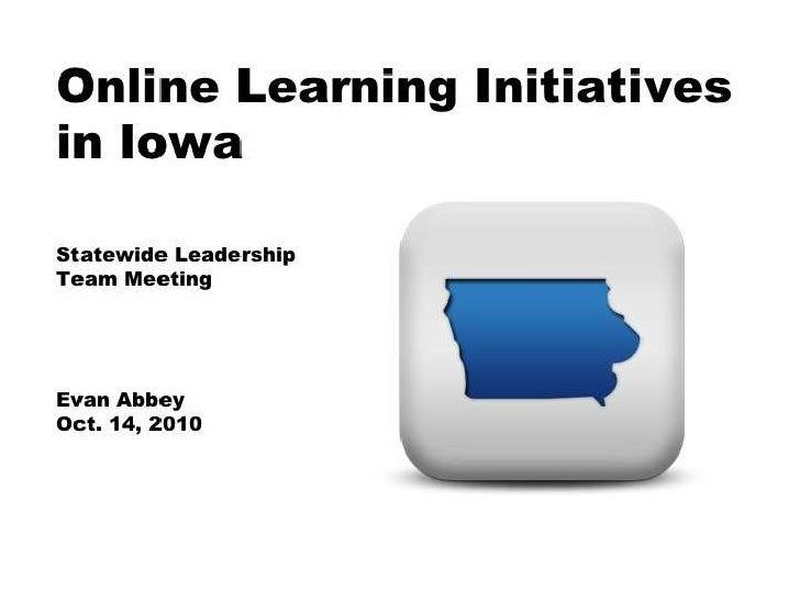 Online learning initiatives in iowa