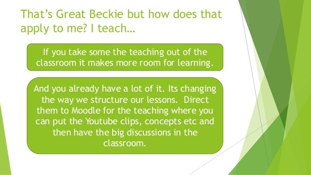 It's not for every class and actually over used can spoil the effect. Here is a link to a great resource which shows how b...